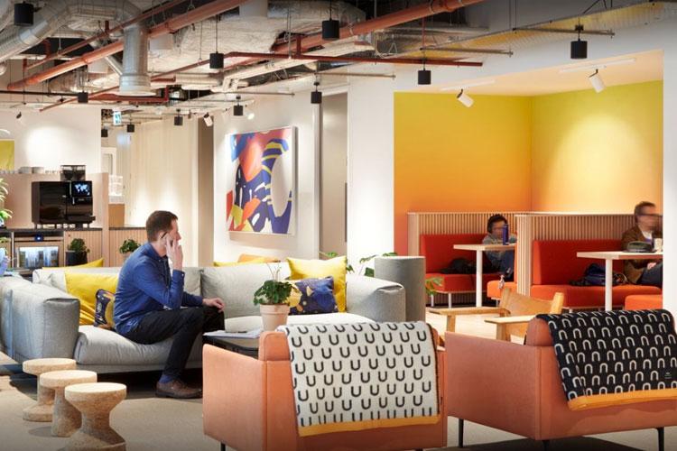 WeWork Hamburg Gänsemarkt Lounge